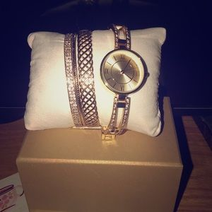 Watch and bangle